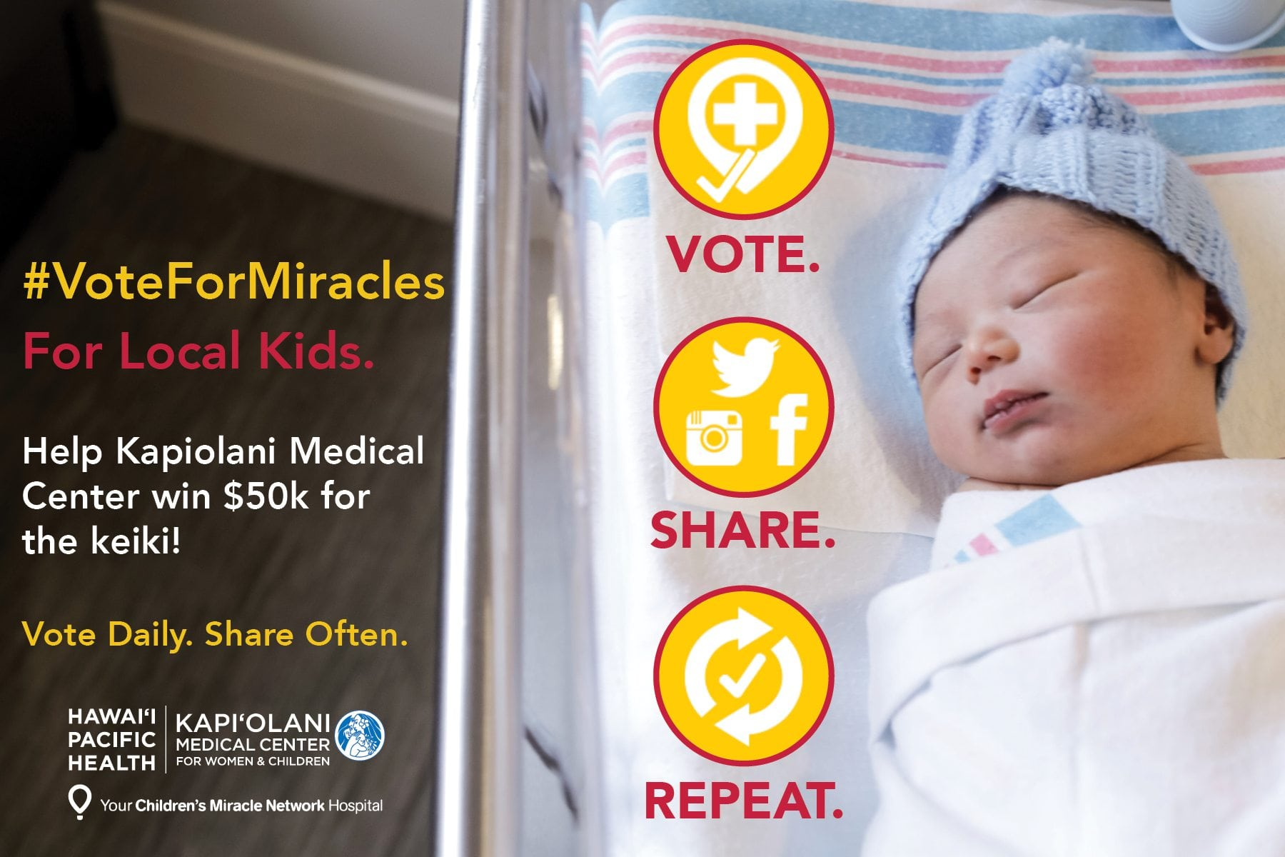 Have you Voted for Miracles? – Kapi'olani Medical Center ...